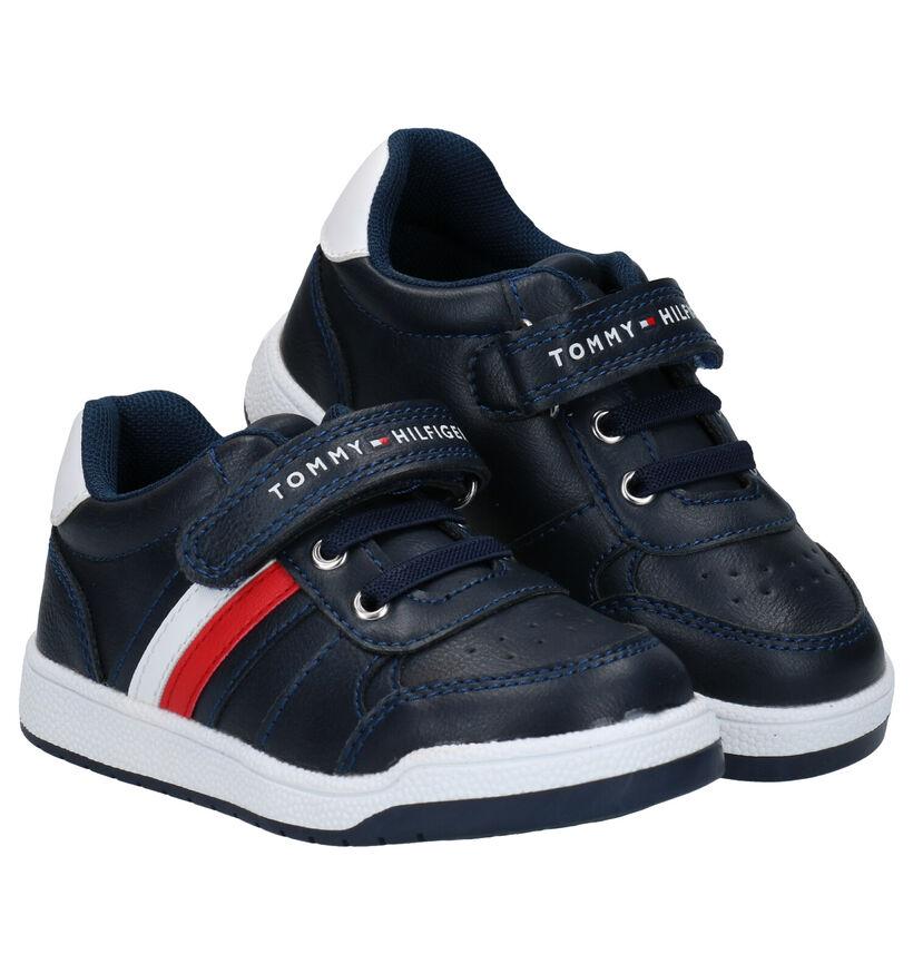 Tommy Hilfiger Blauwe Sneakers in kunstleer (279867)