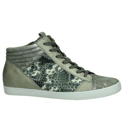 Sneaker met Sleehak en Slangenprint Gabor Optifit Grijs, Grijs, pdp