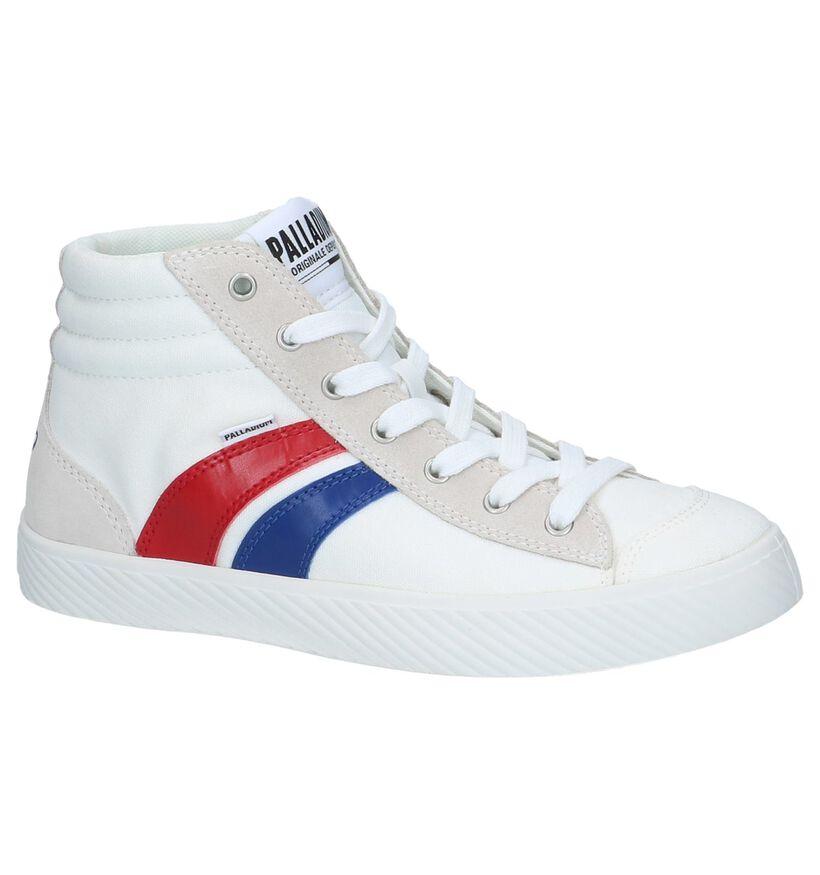 Witte Hoge Sneakers Palladium Pallaphoenix Cuff in stof (243107)