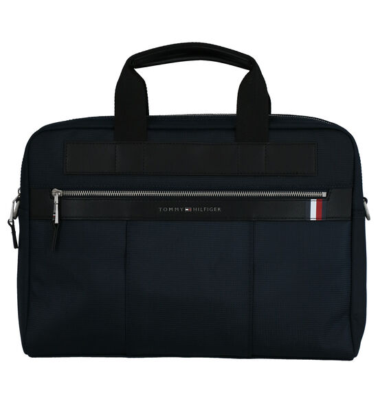 Tommy Hilfiger Elevated Nylon Blauwe Laptoptas