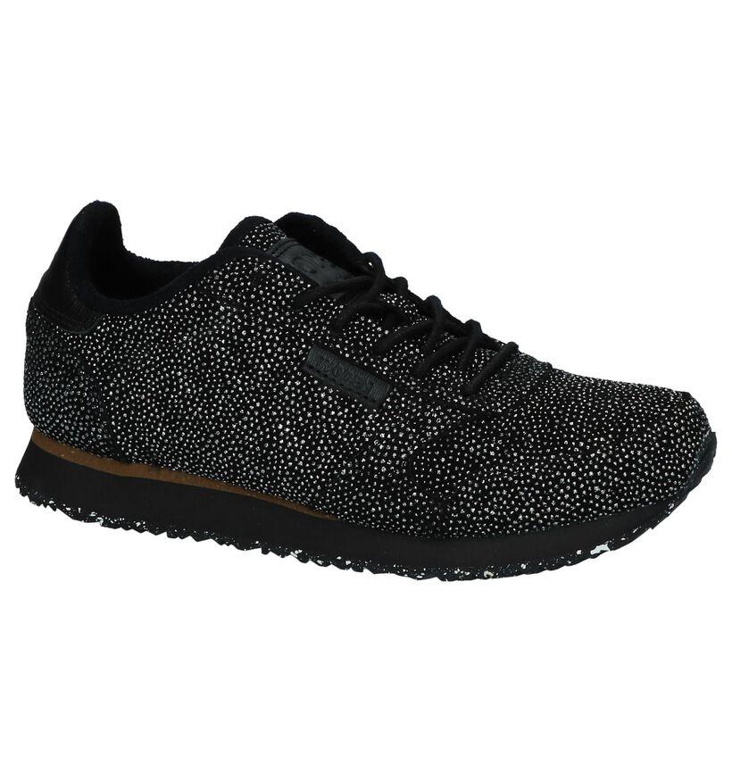Woden Ydun Pearl Zwarte Sneakers in daim (225770)