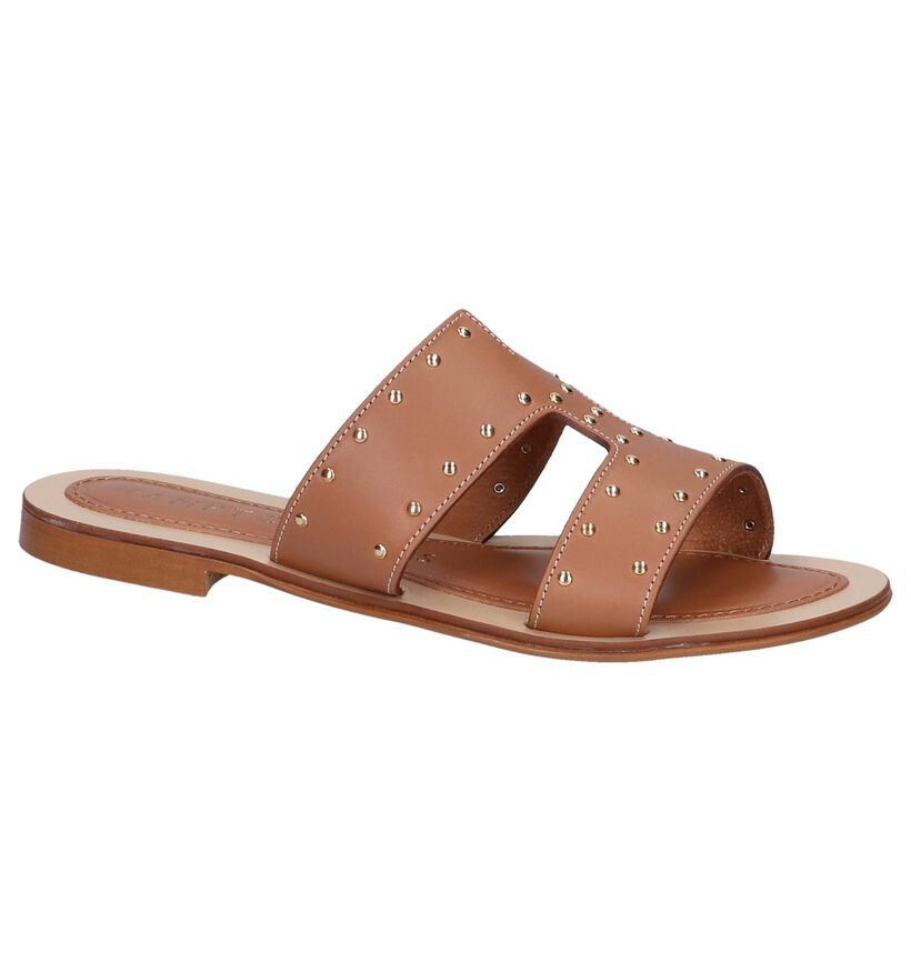 Cognac Slippers Hampton Bays in leer (239285)