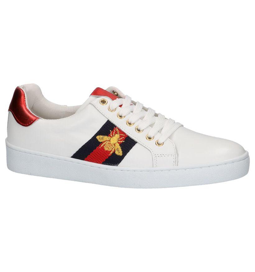 Via Limone by Torfs Witte Sneakers met Tekening in leer (225878)