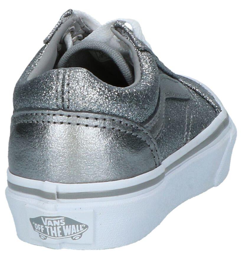 Zilveren Lage Sneakers Vans Old Skool in stof (207934)