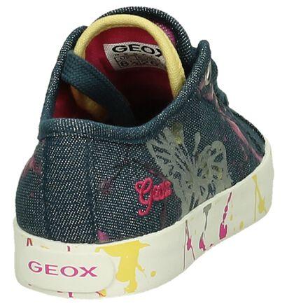 Lage Geox Sneakers Jeans met Verf in stof (190700)