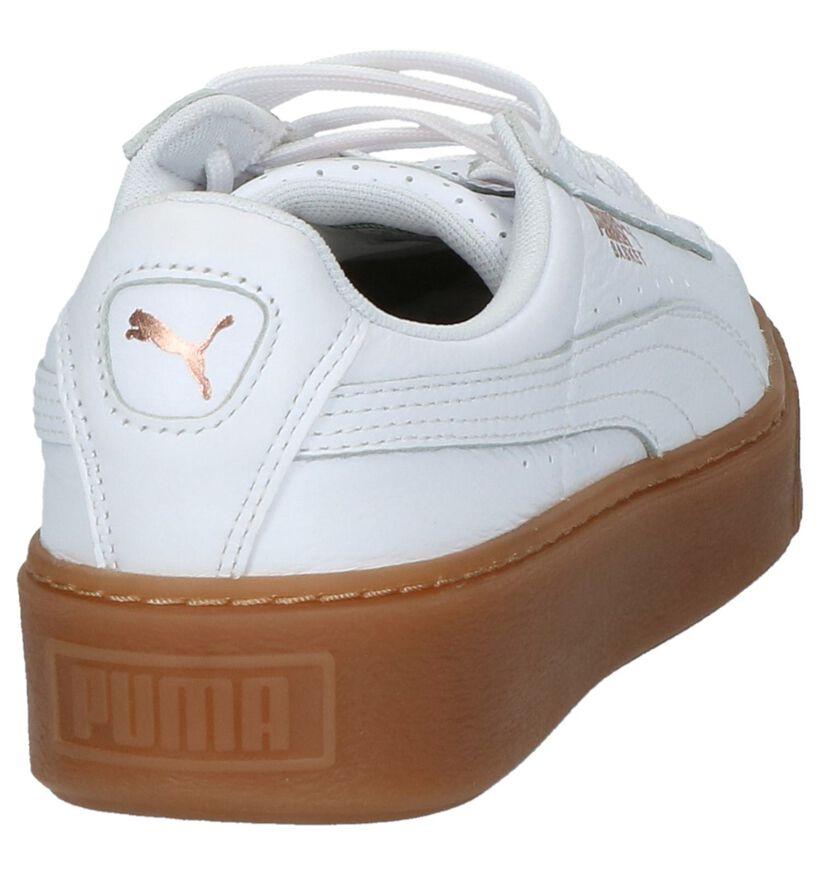 Lage Sneaker Wit Puma Basket Platform in leer (207267)