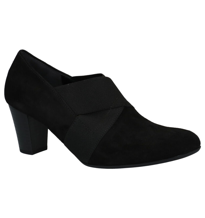 Gabor Soft Move Zwarte Enkelpumps in nubuck (282413)