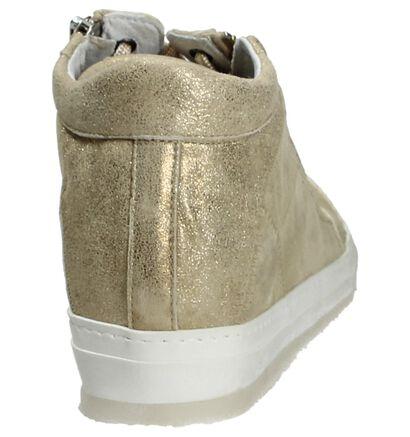 Khrio Beige Sneaker met Sleehak, Beige, pdp