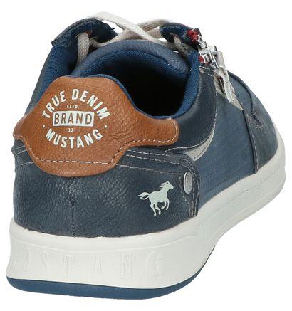 Donker Blauwe Casual Schoenen Mustang, Blauw, pdp