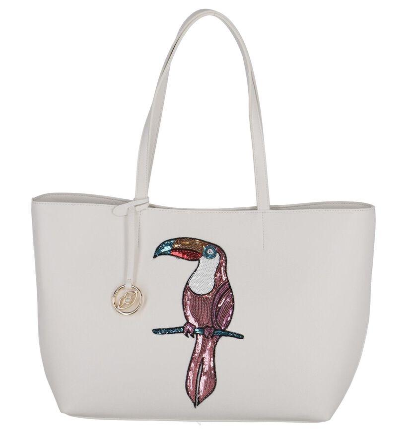 Ecru Shopper Tas Kisses of Pearl in kunstleer (248258)