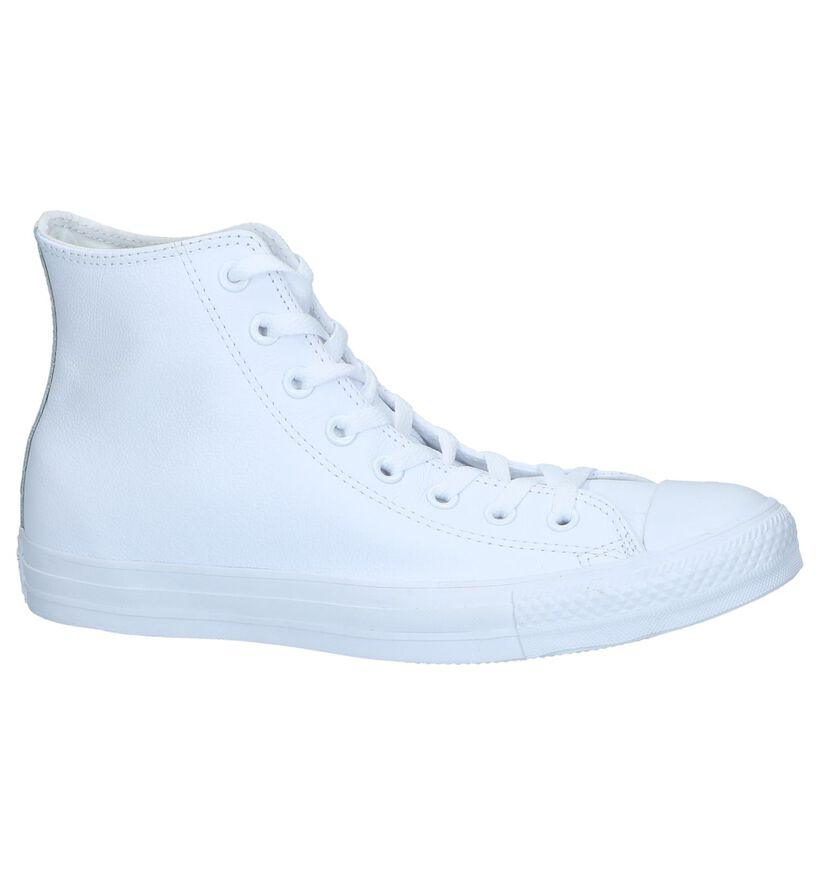 Witte Lederen Sneakers Converse CT All Star Hi in leer (238396)