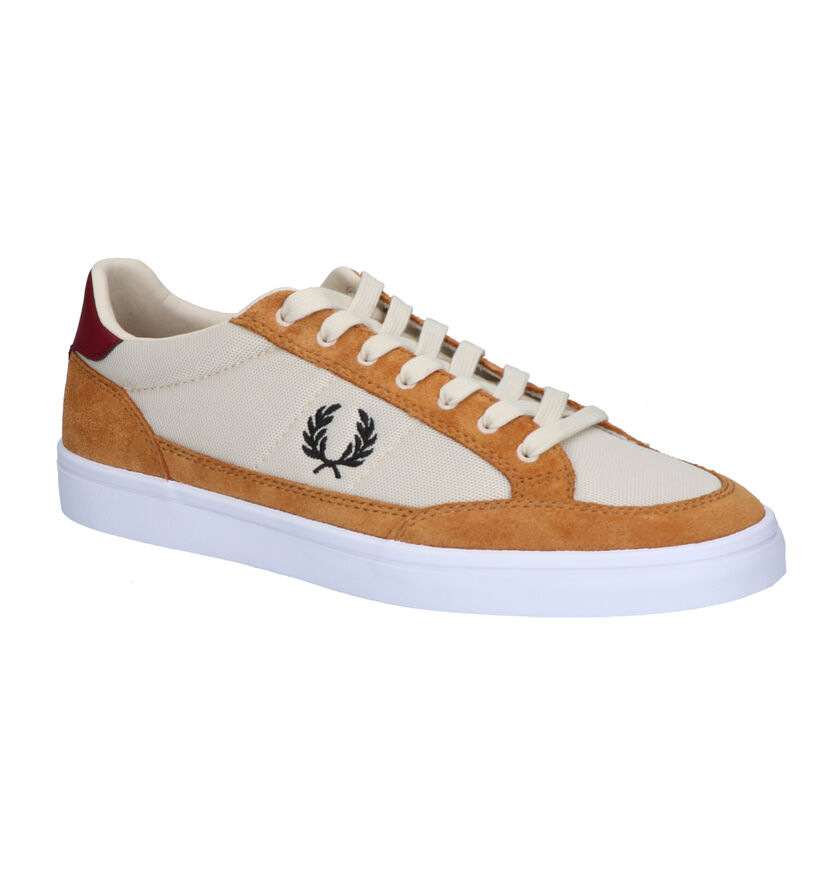 Fred Perry Cognac Sneakers in stof (251601)