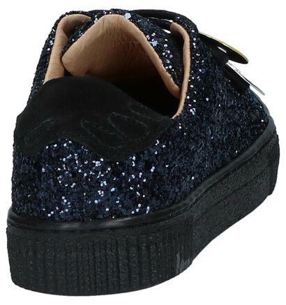 Lage Geklede Sneakers met Glitter SVNTY Donkerblauw, Blauw, pdp