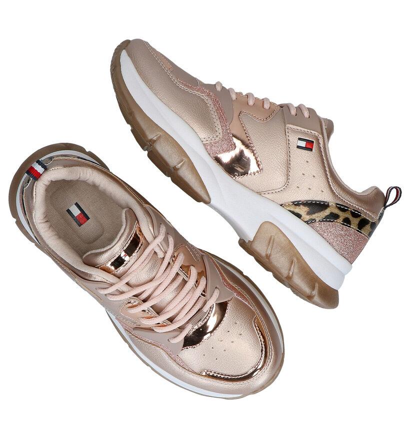 Tommy Hilfiger Rose Golden Sneakers in kunstleer (279912)