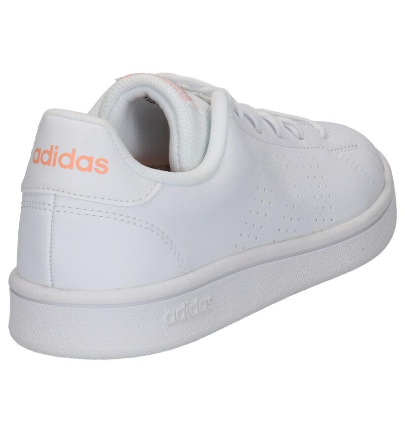 adidas Advantage Base Witte Sneakers in kunstleer (252568)