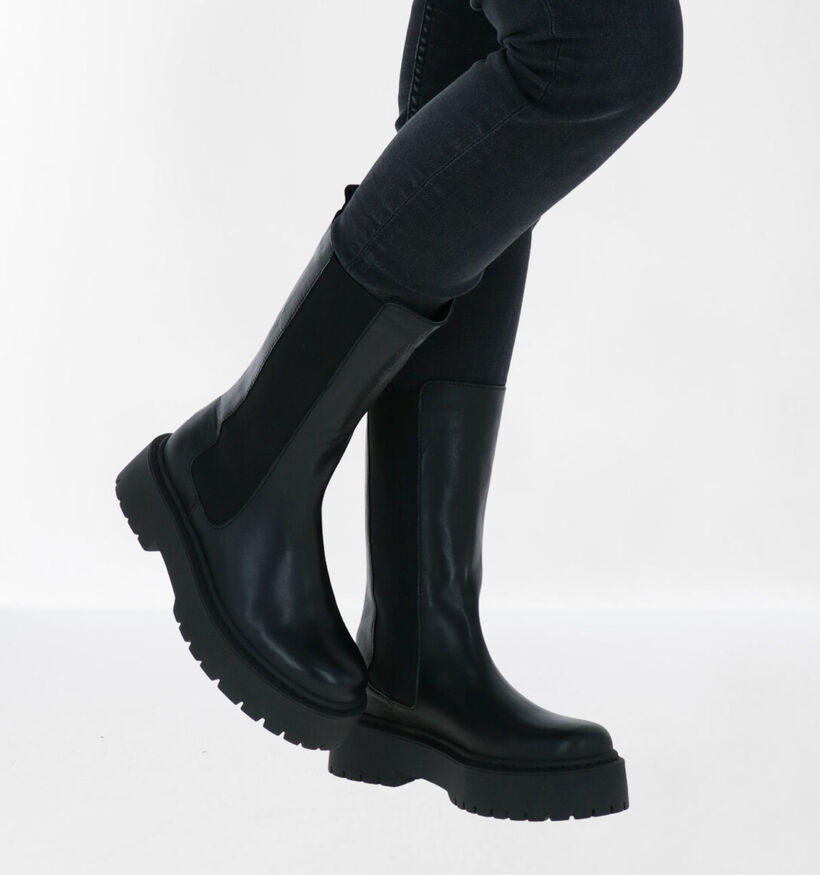 Via Limone by Torfs Zwarte Boots in leer (290442)