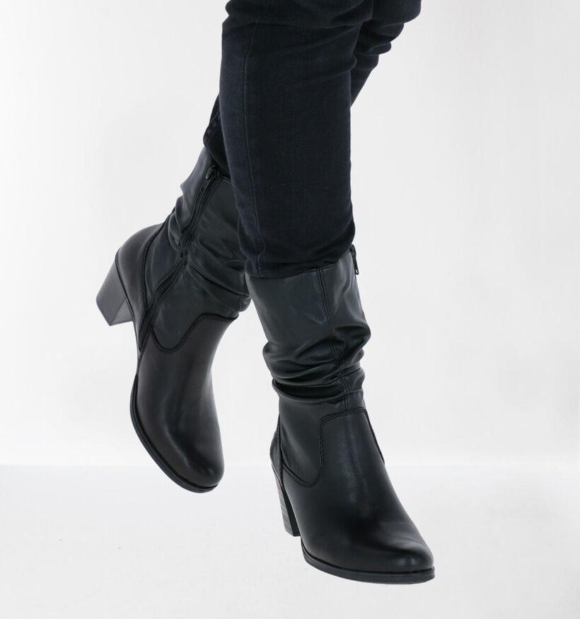 Rieker Zwarte Korte Laarzen in leer (282720)
