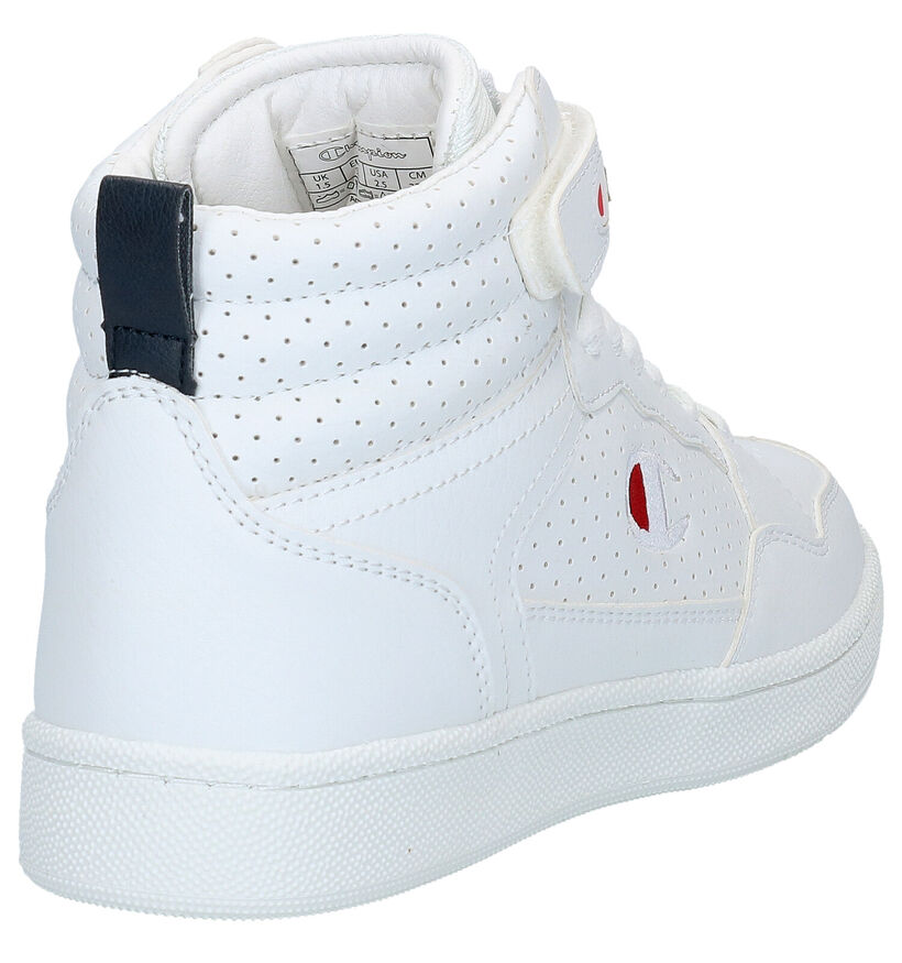 Champion Palm Lake Mid Jr Witte Sneakers in kunstleer (279668)
