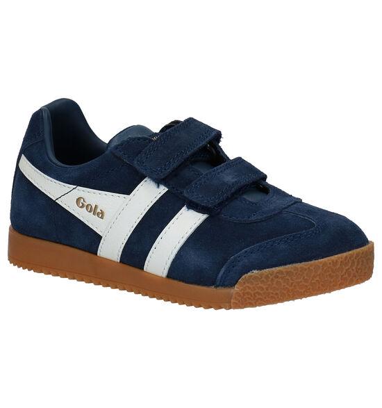Gola Blauwe Klittenbandschoenen