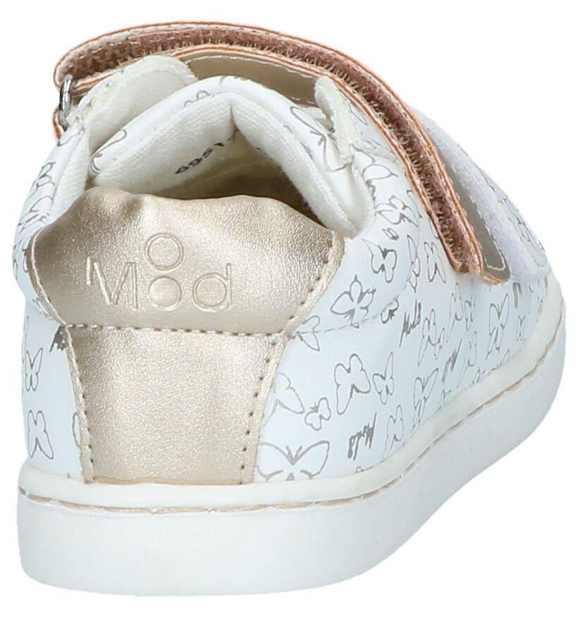 Witte Schoenen met Klittenband MOD8 Oupapillon in leer (238229)