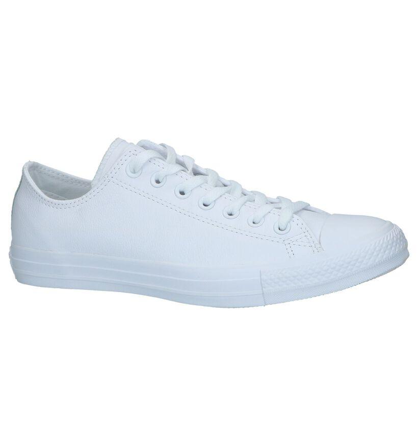 Witte Lage Sneakers Converse Chuck Taylor AS in leer (238398)