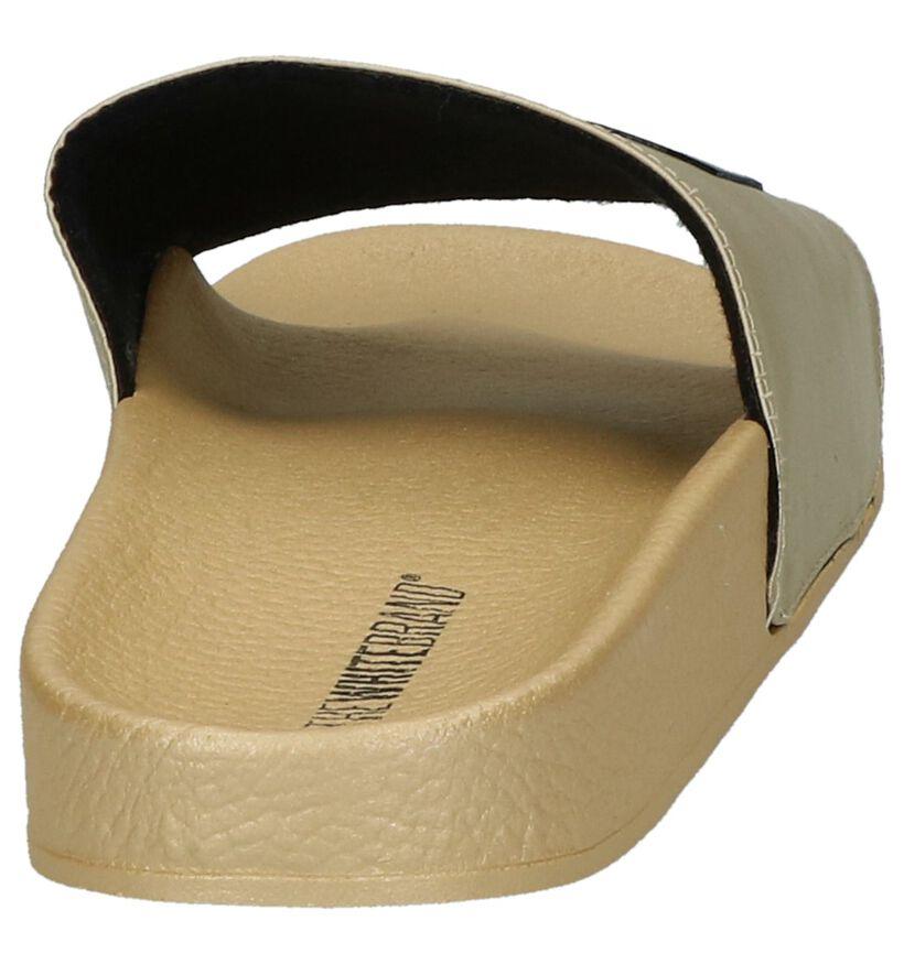 The White Brand Gouden Slippers Girl Gang in stof (215897)