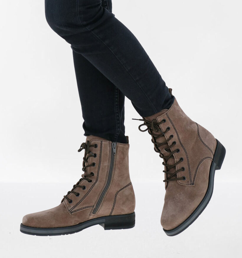 Gabor OptiFit Taupe Boots in daim (282404)