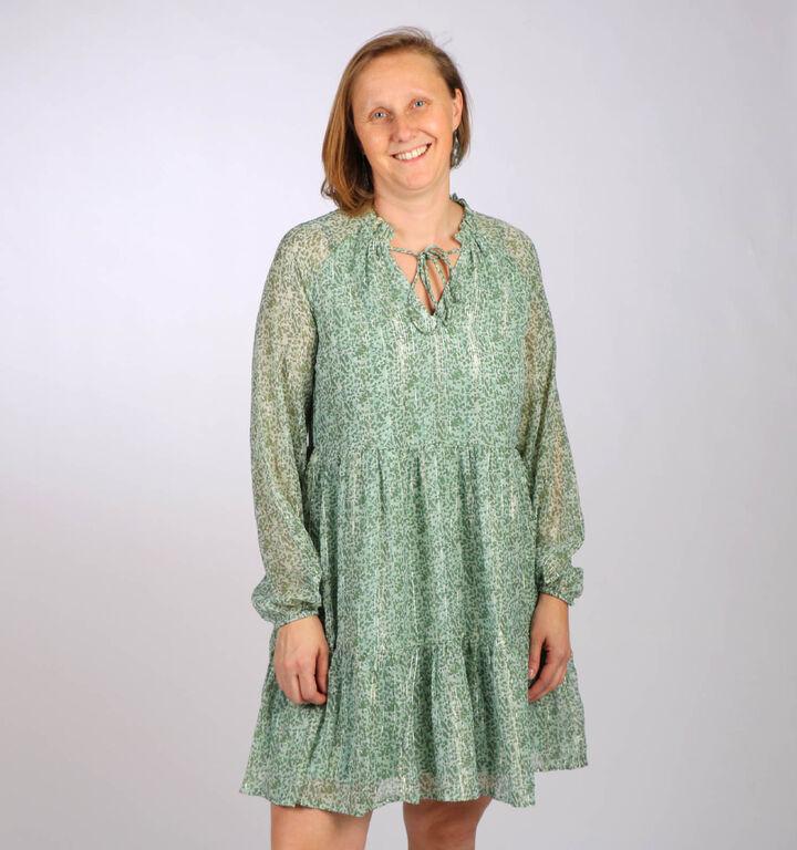 Vero Moda Lulu Groen Kleedje