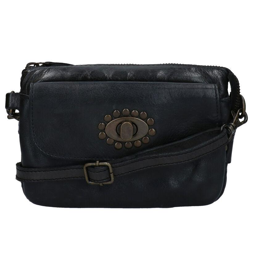 Bear Design Zwarte Crossbody Tas in leer (284321)