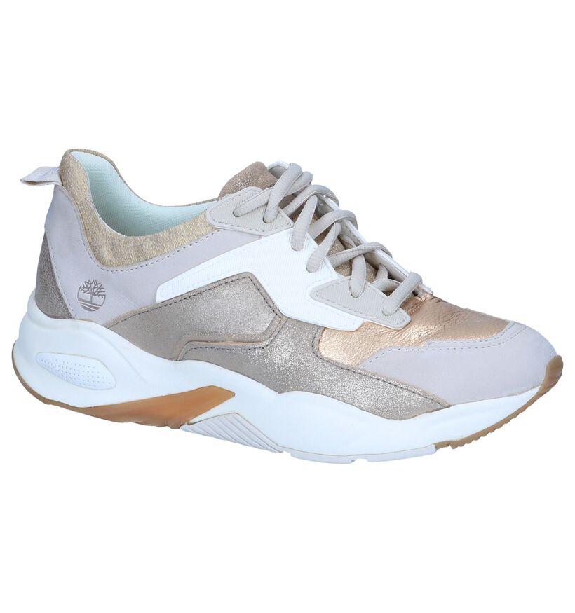 Gouden Sneakers Timberland Delphiville in kunstleer (240509)