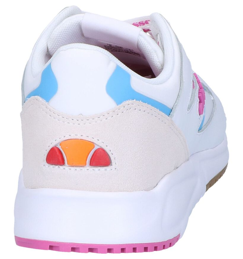 Ellesse Contest Witte Sneakers in leer (241633)