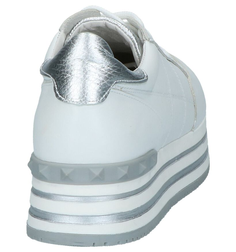 Witte Lage Geklede Sneakers Via Limone by Torfs in leer (232859)