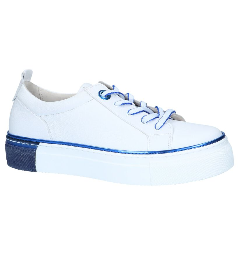 Witte Veterschoenen Gabor Best Fitting in leer (245392)