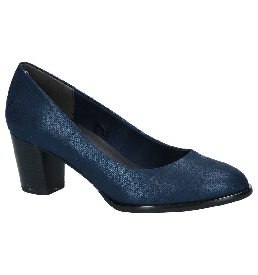 Blauwe Pumps Marco Tozzi in stof (242952)