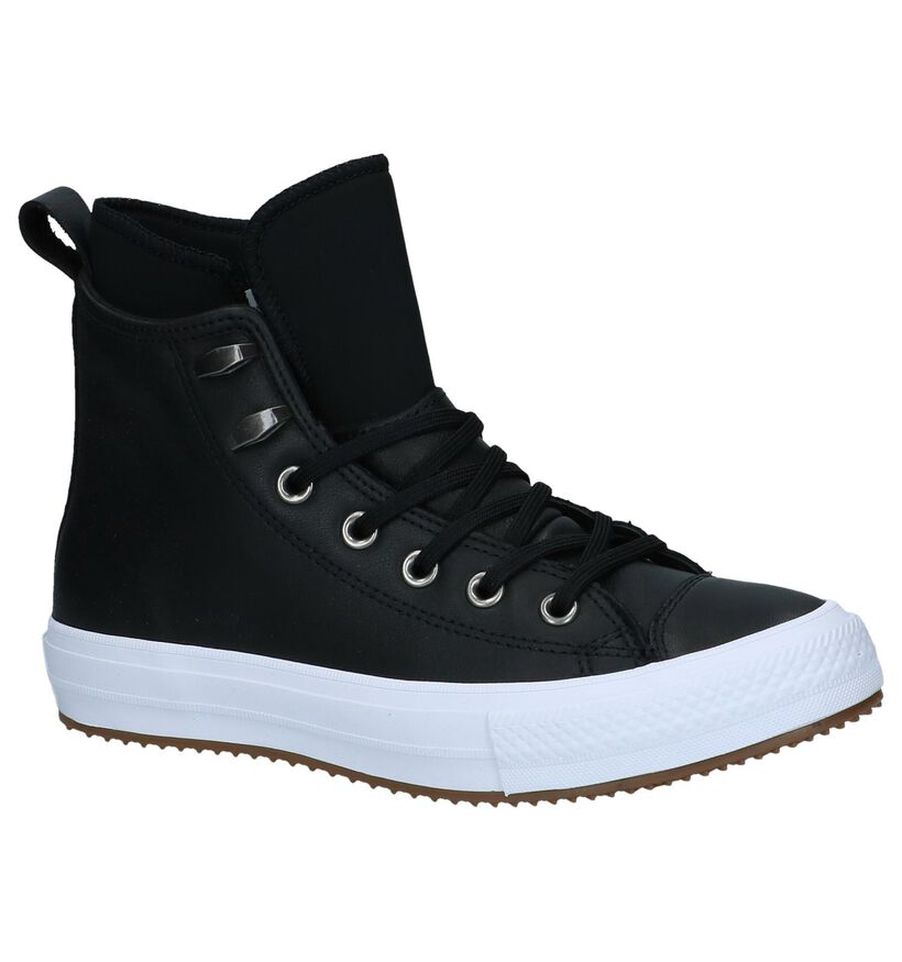 Converse All Star WP Boot Zwarte Slip-on Sneaker in leer (233387)