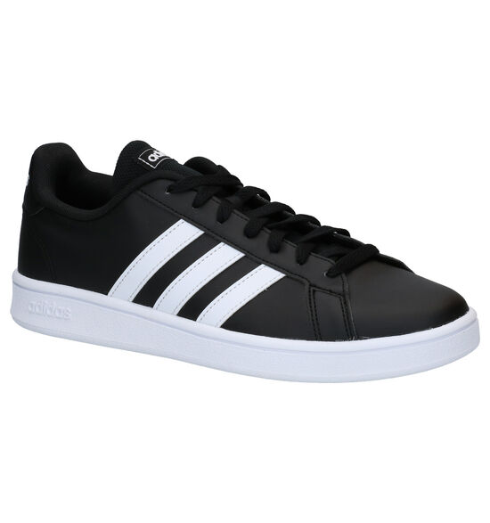 adidas Grand Court Base Zwarte Sneakers