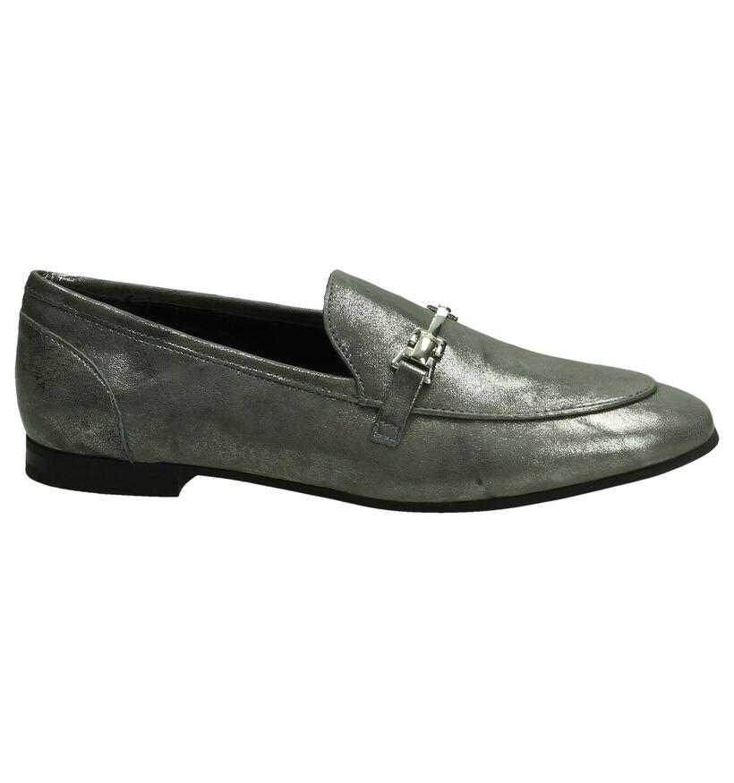 Omnio Zilveren Loafers in nubuck (193023)