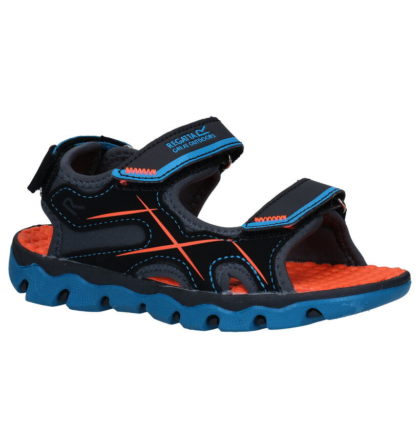 Regatta Great Outdoors Zwarte Sandalen in kunstleer (284404)