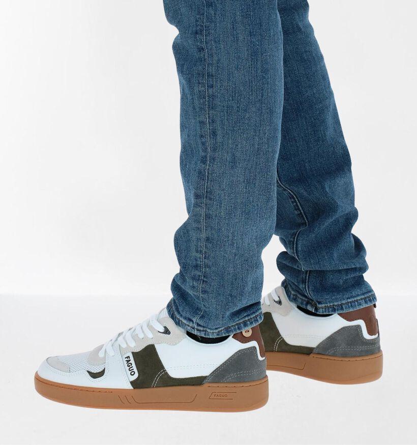 Faguo Ceiba Witte Sneakers in leer (281079)