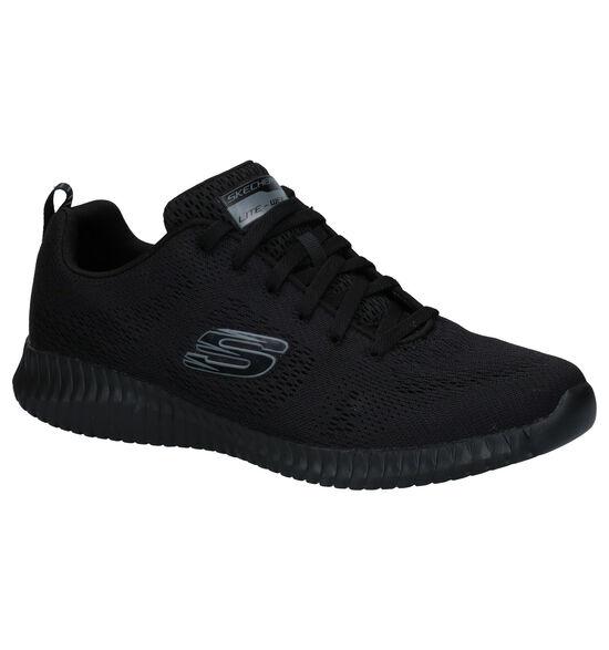 Skechers Elite Flex Clear Leaf Zwarte Sneakers