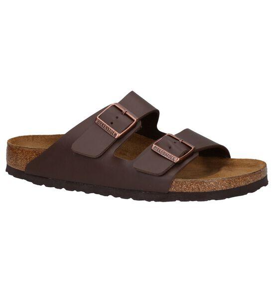 Birkenstock Arizona Donker Bruine Slippers
