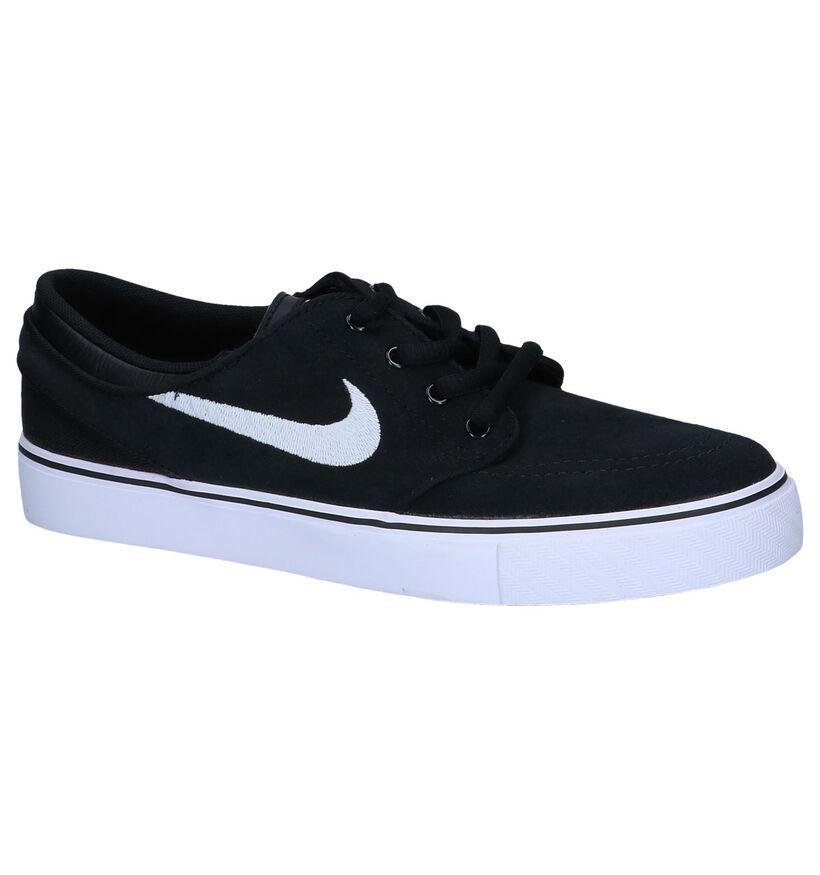 Zwarte Skateschoenen Nike Stefan Janoski in daim (249898)