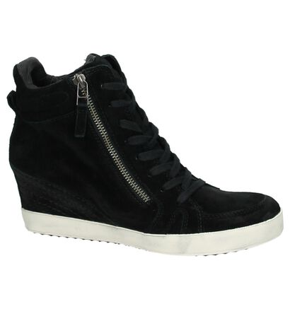 Sneaker met Sleehak Zwart Newblue, Zwart, pdp