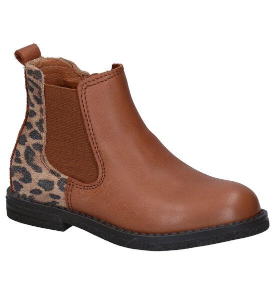 Milo & Mila Agon Leopard Cognac Chelsea Boots