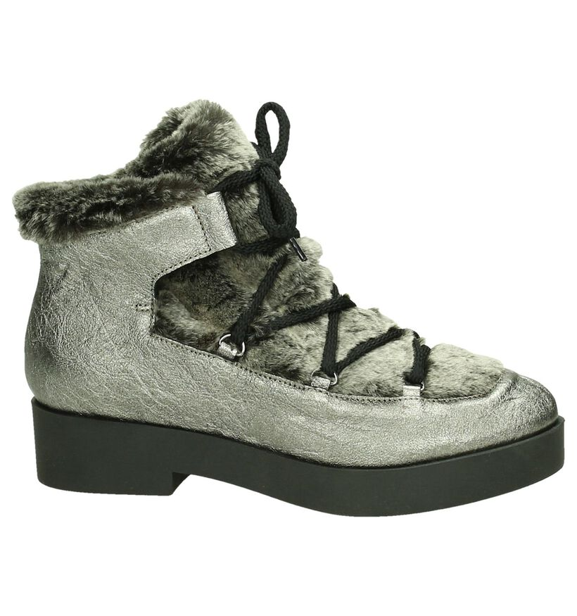 Veterboots River Woods Zilver in faux fur (182630)