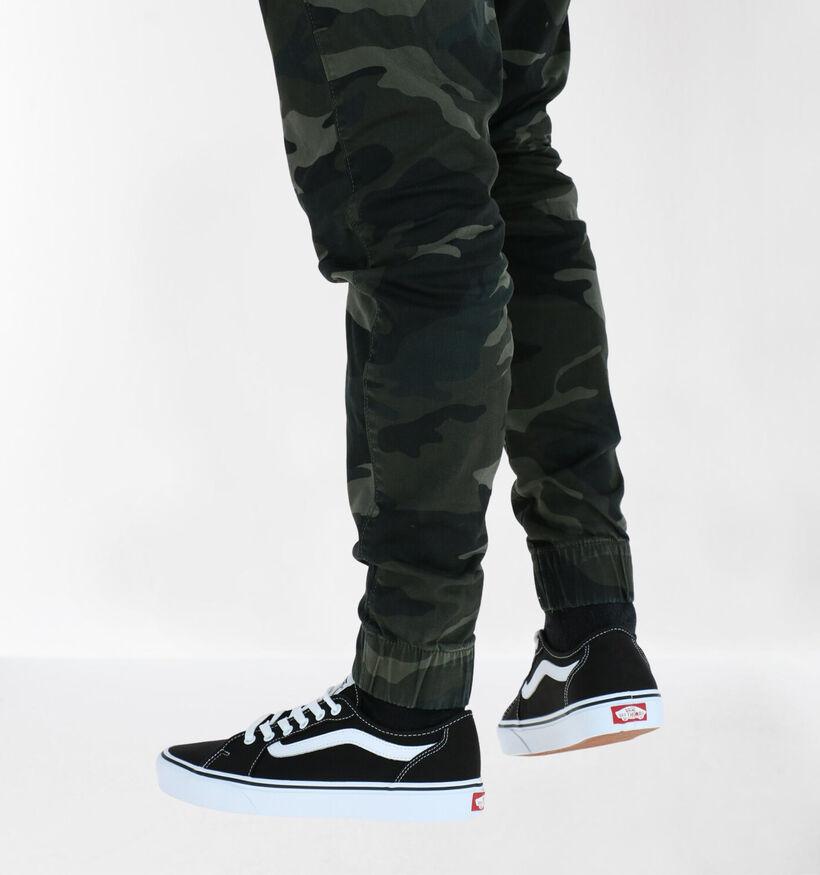 Vans Filmore Decon Zwarte Sneakers in stof (287209)