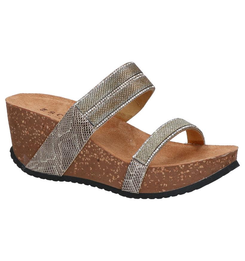 Scapa Tiffany Zilveren Slippers in kunstleer (280535)