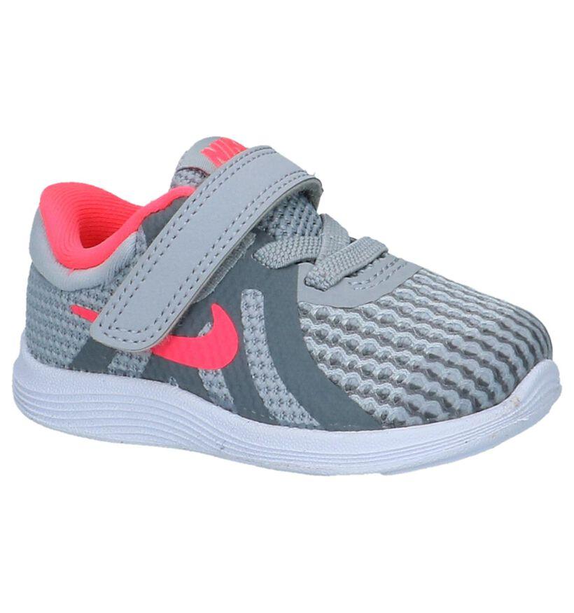 Grijze Babysneakers Nike Revolution in stof (222609)