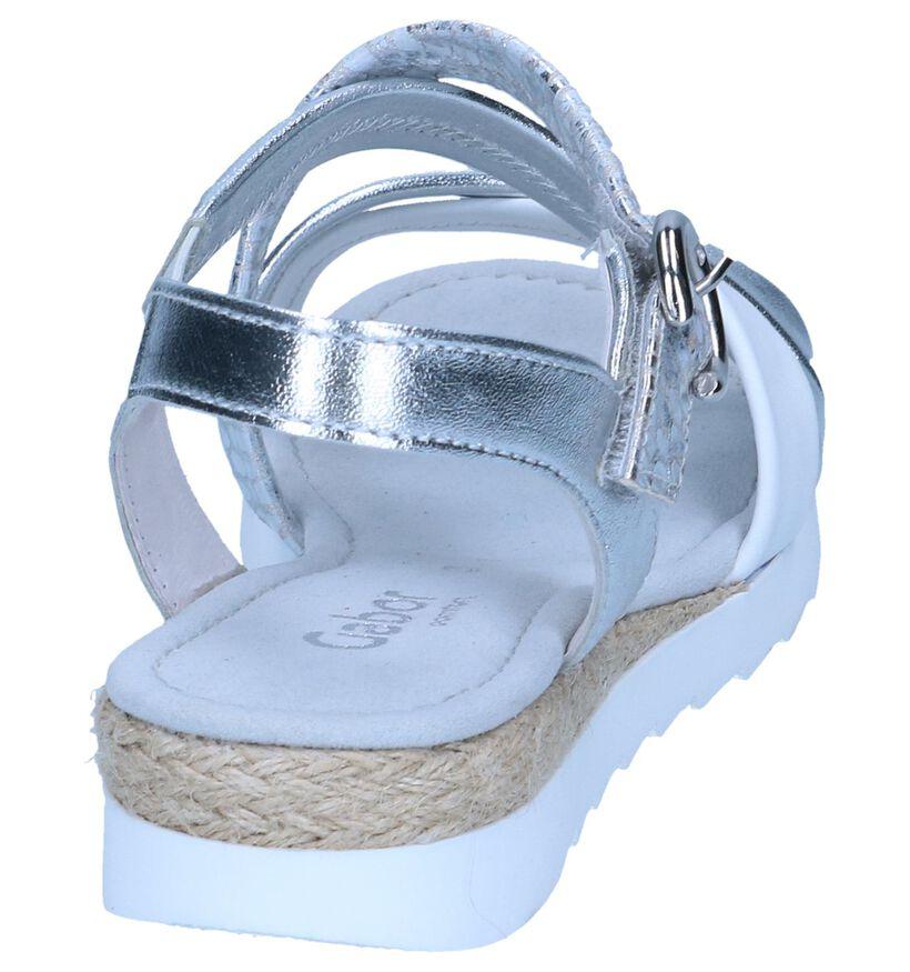 Zilveren Sandalen Gabor Comfort in leer (245567)