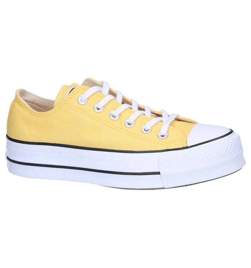 Gele Sneakers Converse All Star Lift OX in stof (249160)